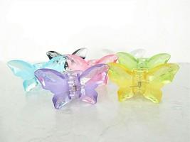 Medium large clear butterfly hair claw clip - $9.95