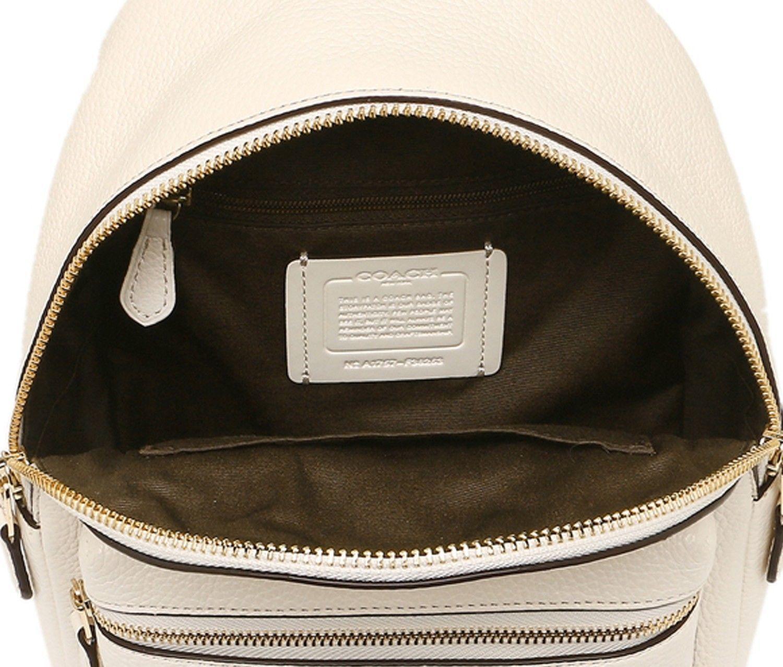 aba2a00511 NEW COACH (F38263) CHALK WHITE MINI CHARLIE PEBBLED LEATHER BACKPACK BAG