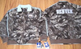 NEW DENVER NUGGETS HOME COOKED ADIDAS Jacket XL NBA NWT XLARGE CAMO TRAC... - $60.76