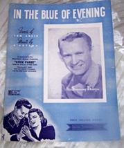 """VINTAGE SHEET MUSIC *IN THE BLUE OF THE EVENING """"  1942 - $4.95"""