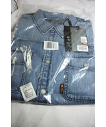NEW IN PACKAGE HARLEY DAVIDSON DENIM SHIRT LARGE WITH EMBROIDERD PATCH F... - $58.41