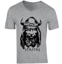 Viking Warrior - New Cotton Grey V-NECK Tshirt - $20.70