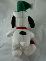 "Hallmark Christmas Snoopy Lovey 9"" Soft Plush Doll with hat and stocking  image 3"