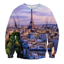 Tower Paris Iconic Structure Sunset View Sweatshirt - $36.99