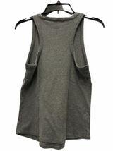 Women Gray Armani Exchange Gray Ribbed Tank Top Sleeveless Sz Small image 3