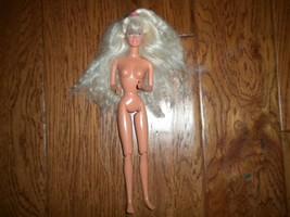 Vintage 1966 Mattel Blonde Blue Eye Twist Waist Earrings Barbie Doll - $25.74