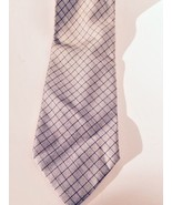 Men's Necktie by Geoffrey Beene silver/black geometric check 100% silk ,... - $7.69