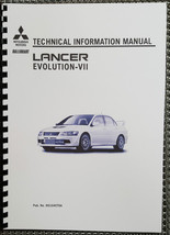 Mitsubishi Lancer Evo Vii Technical Information Manual Reprinted Comb Bound - $42.51