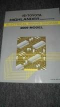 2009 Toyota Montañés Híbrido Eléctrico Cableado Diagrama Manual OEM Fábrica 09 - $9.83
