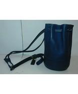 Vintage COACH 9984 Bixby Blue Leather Backpack Sling Drawstring Bag - $109.99