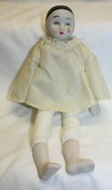 """Vintage 8-1/2"""" Porcelain Clown Doll with Cloth Body - $29.69"""