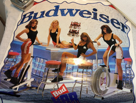 Budweiser Bud Bar Belles Pinup Poster Pump Up Party 1992 Beer Advertisin... - $18.69
