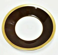 Haviland Limoges Laque de Chine Gold Circle-Chocolate Plate Saucer - $21.61