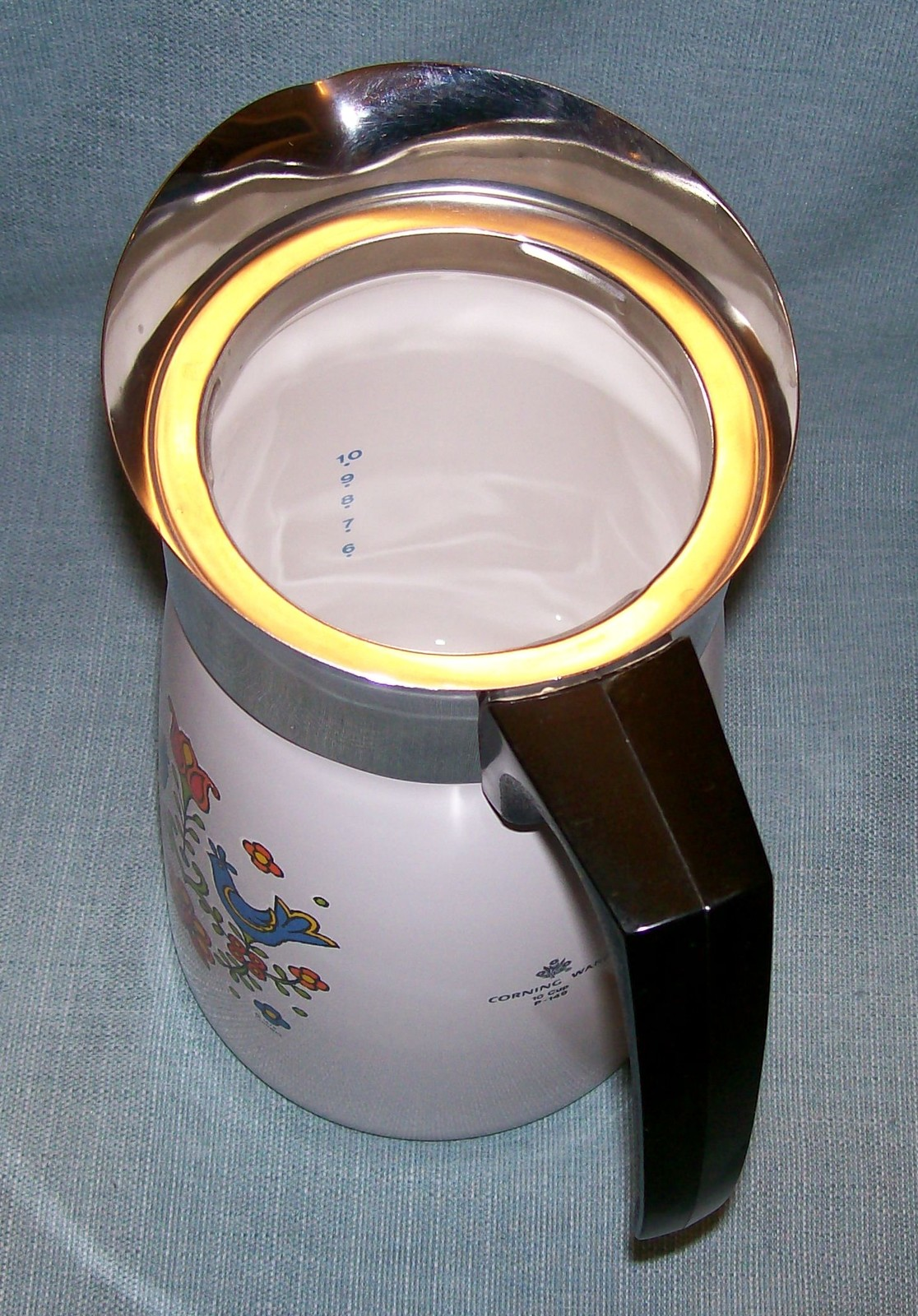 Vtg Corning COUNTRY FESTIVAL Friendship Stove Top 10 Cup Percolator P149 Birds image 5