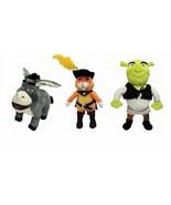 Shrek Toys Plush Movie Characters Stuffed Green Ogre Donkey or Puss in B... - $22.89