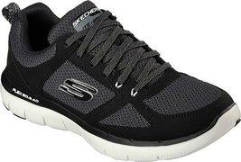 Skechers Sport Men's Flex Advantage 2.0 Oxford Sneaker, Black/White, 8.5... - $69.99
