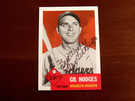 MRS GIL HODGES GIL'S WIFE 1955 DODGERS 1969 METS AUTO SIGNED TOPPS CARD ... - $118.79