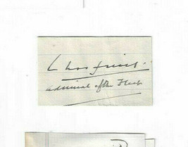 Sir Ernie Chatfield Admiral of the Fleet 1935 Signed Clip / Autographed ... - $24.24