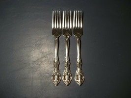 "Lot Of Three Dinner Forks 7 1/4"" MICHELANGELO Pattern Oneida Stainless S... - $34.64"