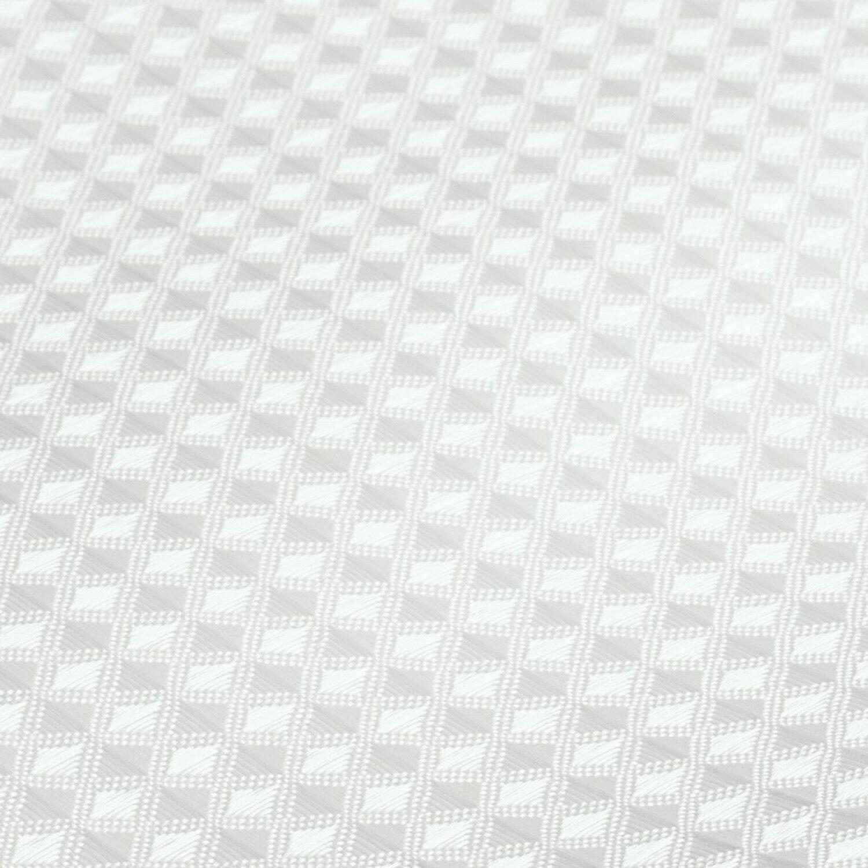 InterDesign Carlton Fabric Shower Curtain, Stall 54 x 78, White Set of 1