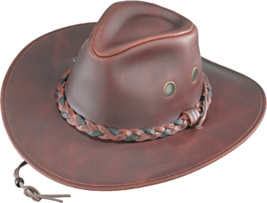 Henschel Waxed Cowhide Crushable Weather Resistant Cowboy Made In USA Ch... - $74.00