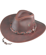 Henschel Waxed Cowhide Crushable Weather Resistant Cowboy Made In USA Ch... - $67.00