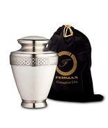 Cremation Urn for Ashes, for Adults up to 200lbs, White Funeral Burial U... - $51.11