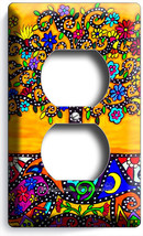 Colorful Mexican Tree Of Life Folk Art Outlet Wallplate Room House Kitchen Decor - $8.99