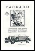 Packard Eight Auto 645 Five-Passenger Phaeton 1928 Golfers Print Ad - $9.99