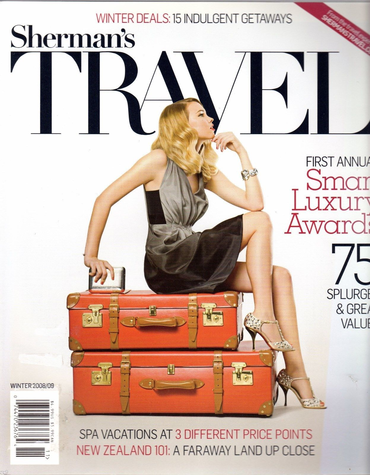 Primary image for Sherman's TRAVEL Magazine Smart Luxury Winter 2008/2009