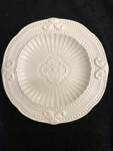 """Baroque White. 8 5/8"""" Salad Plate. American Atelier. Nos. Excellent Condition - $17.82"""