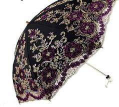 Folding Umbrella Lace Women Rain Parasol Wedding Waterproof Anti-UV Prot... - $64.62