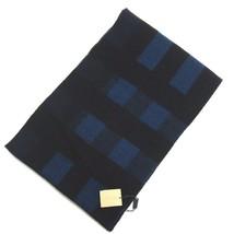 J-876127 New Burberry Blue Black Plaid Blanket Scarf - $209.99
