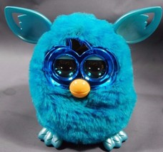 FURBY Tiger Electronics Metallic Blue Stuffed Plush Toy no sound for repair - $22.97