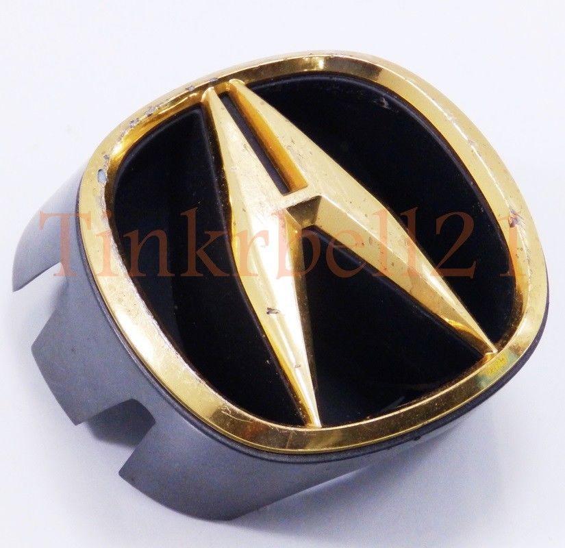 Acura RL 99 00 01 Grille Emblem Gold Nameplate Badge OEM