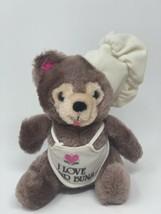 Vintage Russ Berrie Plush I Love Your Buns Teddy Bear Chef Stuffed Anima... - $13.99