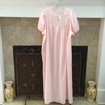 Katz Vintage Women's Floral Embroidered Detail Lightweight Nightgown Siz... - $25.99