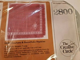 Creative Circle Gingham and Snowflake Napkins #2800 Vintage 1984 16 x 16 - $14.84