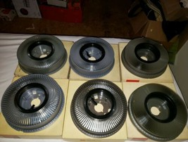 4 Eastman Kodak CO carousel transvue 80 slide trays & 2 transvue 140 slide trays - $98.99