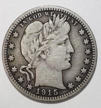 1915 Barber Quarter 25¢ Silver Liberty Head Coin Lot# 818-2