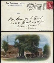 The Colonial Hotel Mt. Clemens, MI 1915 Advertising Cover - Stuart Katz - $95.00