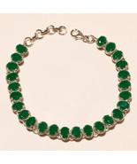 Zambian Green Emerald Gemstone 925 Sterling Silver Tennis Bracelet Fine ... - $64.12