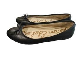 "Sam Edelman Society ""CARRIE"" women's Black Leather Ballet Flat shoes US 9.5M  - $37.99"