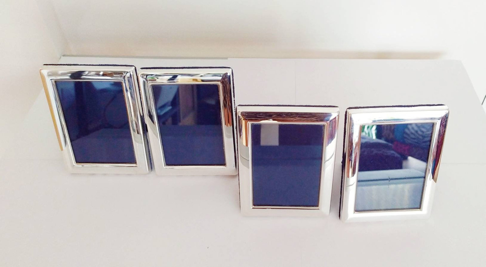Sterling Silver Photo Frame 3.5 X 4 Inches Set of 4 Pieces - $375.69