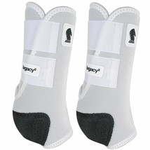 Classic Equine Lightweight Legacy2 Front Sports Boots Pair White U-02WH - $86.99