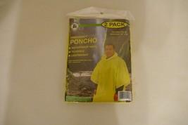 "NEW Parker International Waterproof Vinyl Rain Poncho 52"" x 80"" Survival... - $11.29"