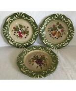Certified International La Toscana Set Of 3 Salad Plates Pamela Gladding... - $24.99