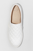 A New Day Women's White Reese Wide Width Quilted Slip-On Sneakers Shoes image 3