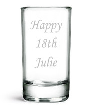 Personalised Shot Glass, Birthday Gift, 18th 19th 20th 21st 22nd 23rd 24... - $13.62