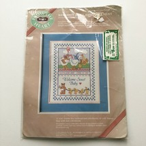 VTG Dimensions Welcome Baby Announcement Cross Stitch Kit 53004 Linda Williams  - $14.00